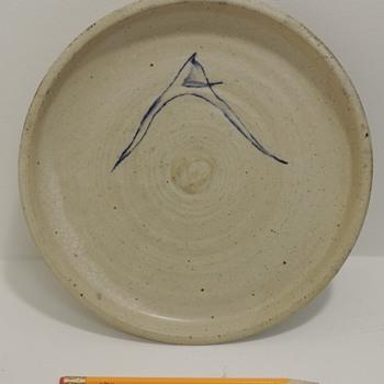 Stoneware Dish marked on back
