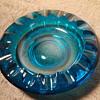 big ole' blue glass ashtray