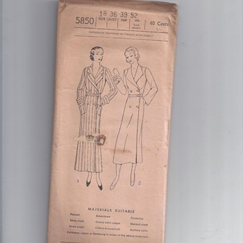 "E3158 EXCELLA PATTERNS   1930""?"