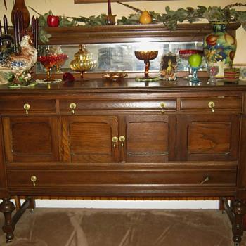 My Early 1900 Oak Buffett - mission oak ? - Furniture