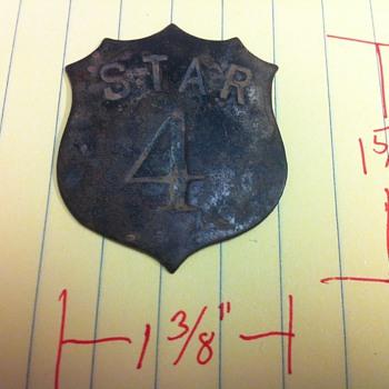 Star 4 Badge - Railroadiana