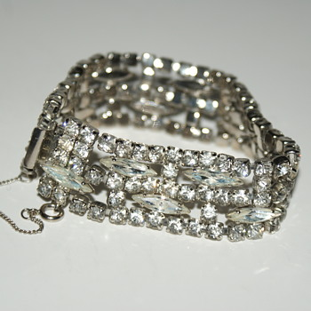 Rhinestone Bracelet of Exceptional Quality  - Costume Jewelry