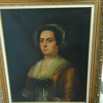 Goodwill Find! Large Oil Painting of Dutchess but who? - Fine Art