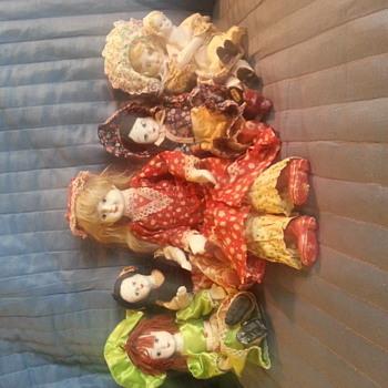 vintage bisque foam/rope dolls - Dolls