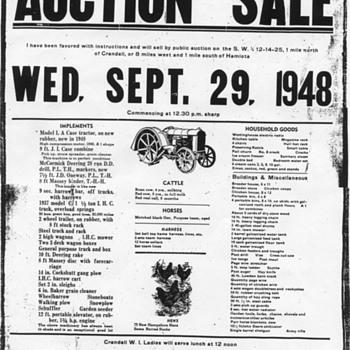 Auction Sale Poster - Paper