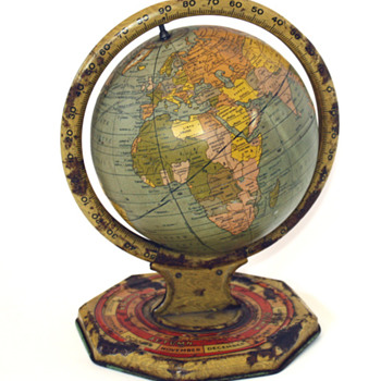1930's metal world globe - Office