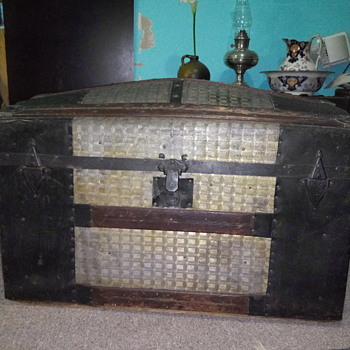 Antique Camel Back Trunk - Furniture