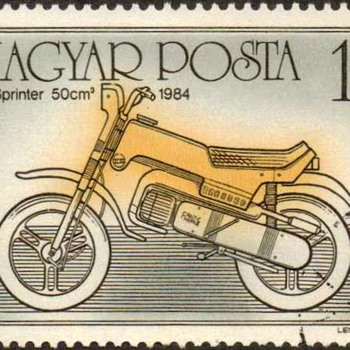 """Hungary - """"Motorcycles"""" Postage Stamps"""