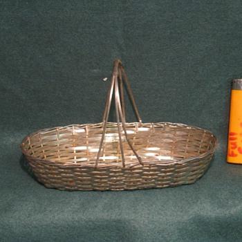 Weird steel woven basket