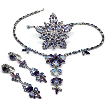 New to me Sherman brooch with Necklace & Earrings previously shared - Costume Jewelry