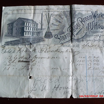 Another from my local items collection, a receipt from 1894