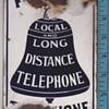 Early small Public Telephone Local and Long Distance sign