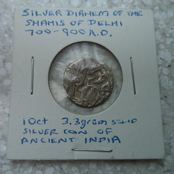 Silver Dirham Coin of ancient india 700-900 A.D