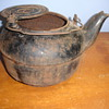 ANTIQUE LARGE IRON KETTLE #6 or 9