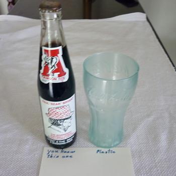 Coke soda fountain glass & bottle