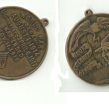 "WWI ""Our Colored Heroes"" Medal - Military and Wartime"