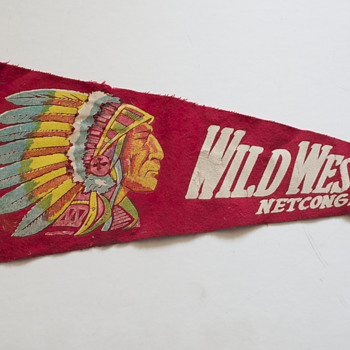 Two Vintage Souvenir Pennants - Advertising