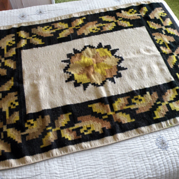 Woven Wool Rug - Southwestern, Mexican or Native American? - Rugs and Textiles