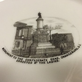 Orangeburg SC Confederate Monument Commemorative Plate - China and Dinnerware