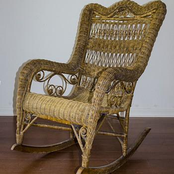 Vintage Wicker Rocker  - Furniture