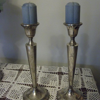 Candle Holders, filled with cement? - Silver