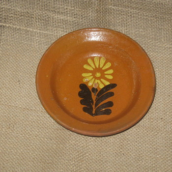 18th Century Redware Slip Bowl - Pottery