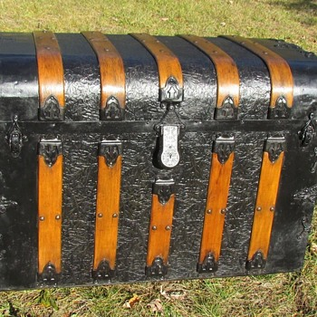 1890's 5 Slat Monitor Trunk - Furniture