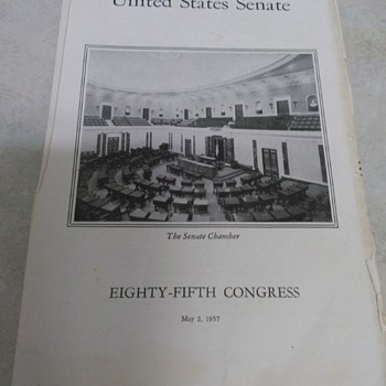 UNITED STATES  SENATE PAMPHLET