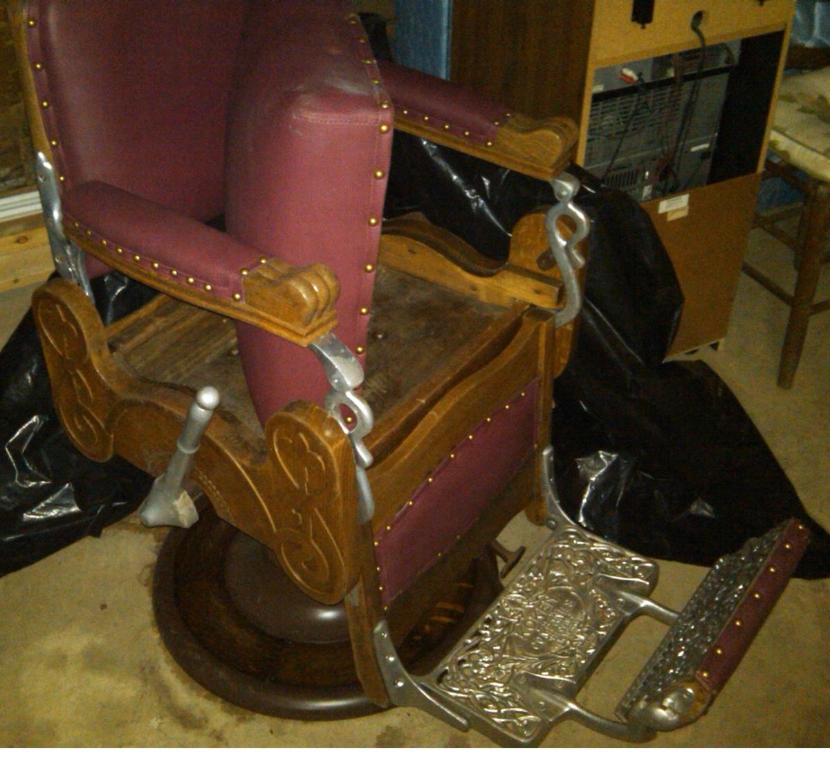 koken instappraisal img appraisal wood barber antique chair