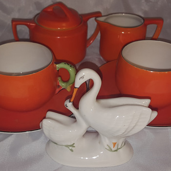 Okwan China Hand Painted Made in Japan Lovely Cups & More - Asian