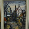 "1 of 2, Robert Vere ""Robin"" Darwin, Oil on Masonite, Impressionist, Cityscape, Circa 1950"