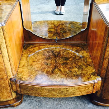 Burl Wood Vanity - Furniture