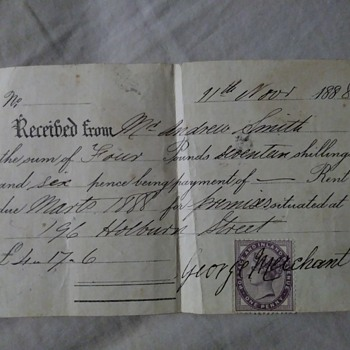 very old document from early 1900s