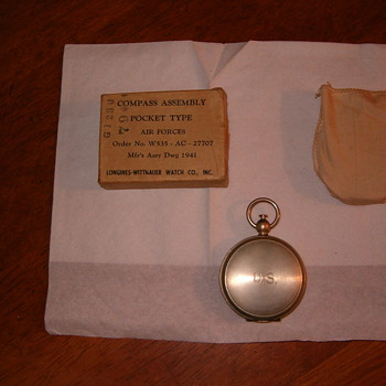 1941  pilot pocket compass - Military and Wartime