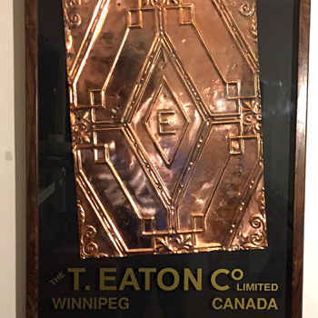 The T. EATON Co Limited, Winnipeg Store Ceiling Tile - Office