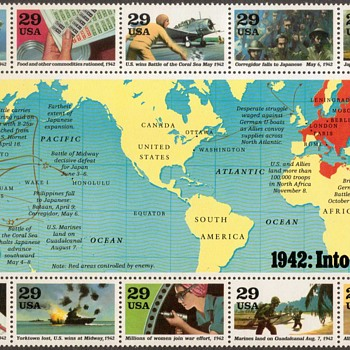 1992 - World War II Souvenir Sheet (U.S. Postage)