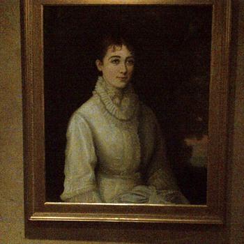 Portrait. Oil on wood.