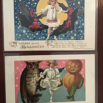 Smuckner/ Winsch Halloween postcards  - Postcards