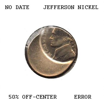 Jefferson Nickel Off-Center Strike Error