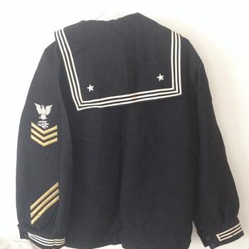 Original WW2 USN CPO Dress Blue  Shirt ? - Military and Wartime