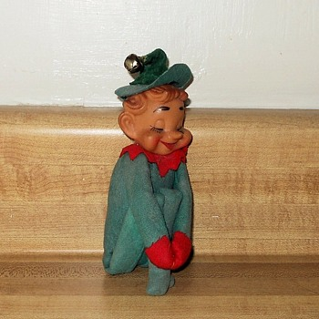 A Vintage Elf On a Shelf Unusual Eyes Closed Version - Christmas