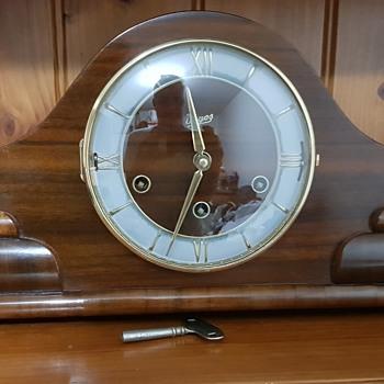 Art Deco Urgos Triple Chime Mantle Clock 1964 (restored) - Art Deco