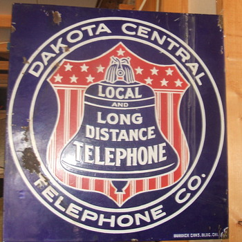 Dakota Central Telephone Co. Porcelain Sign - Signs