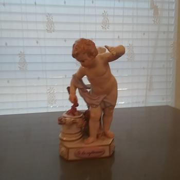 Meissen motto cherub figurine - Figurines