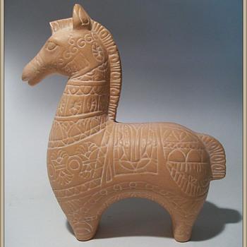 Ceramic Horse (....In the style of Bitossi... ) - Animals