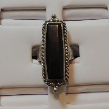 Sterling Silver Women's Ring - 925 & ONYX - Fine Jewelry