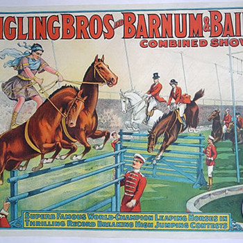 Leaping Horses - Ringling Bros and Barnum & Bailey c.1929 - Posters and Prints