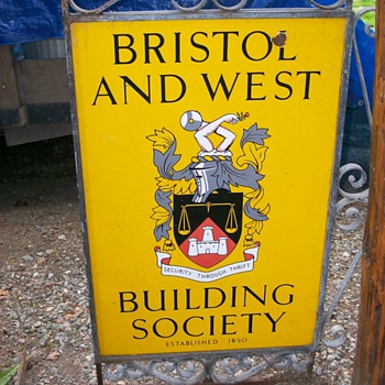 Bristol & West Building Society Metal Sign - Signs