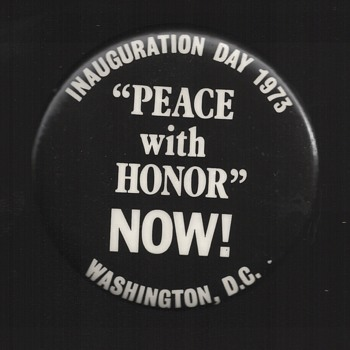 1973 Vietnam Nixon Inauguration Protest pinback button