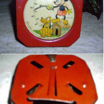 Mickey Mouse Thermometer 1934 to 1938 acquired - Animals